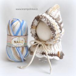 Háčkovaná kukla pro miminko příze Nako Lolipop